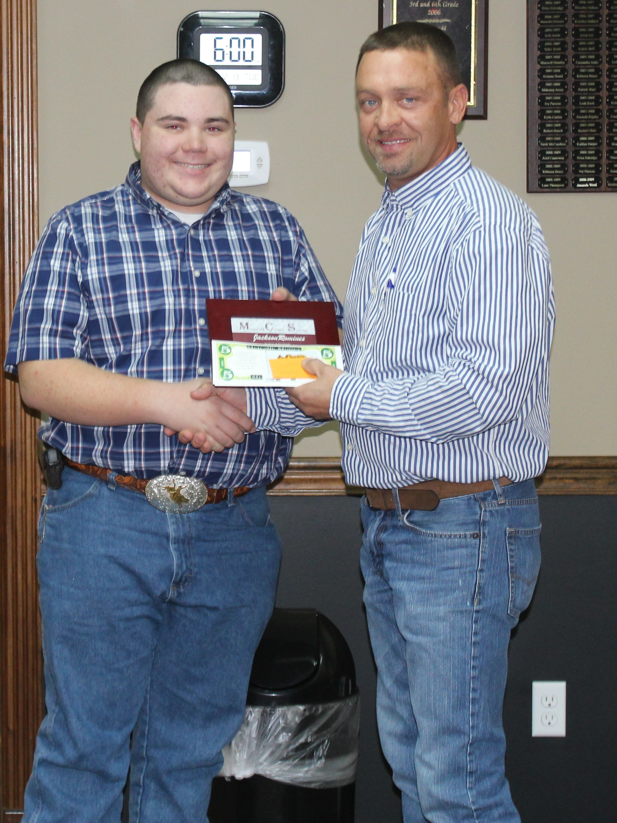 Jackson Romines Receives Student of the Month